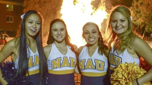 Northern Arizona University Cheerleaders ~ Homecoming Traditions Day